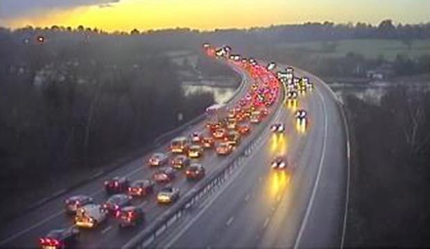 Traffic on the M27 this evening
