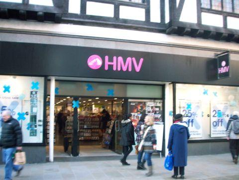 HMV in Winchester High Street