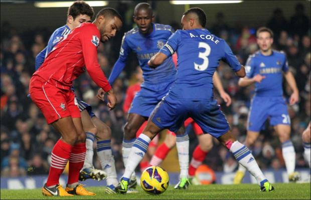 Jason Puncheon at Stamford Bridge last night.