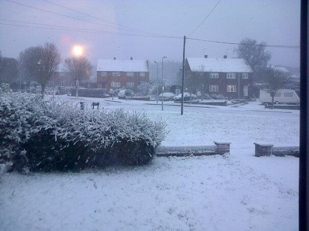 Bishopstoke in the snow by Shaun Mason