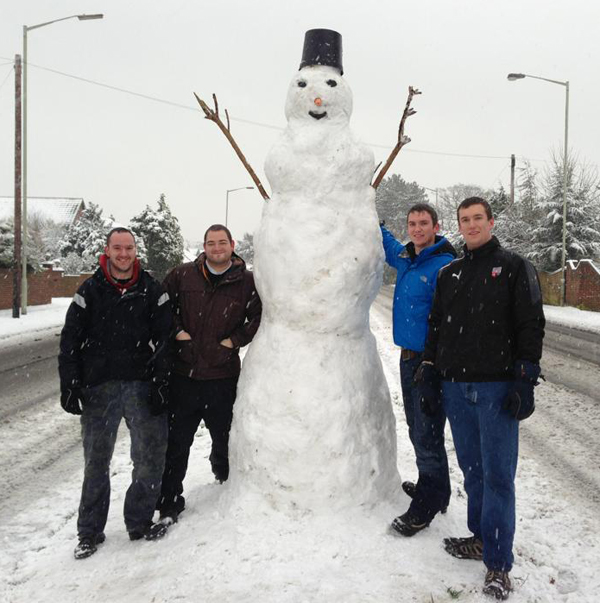 Daily Echo: Mike Hontair's big snowman.