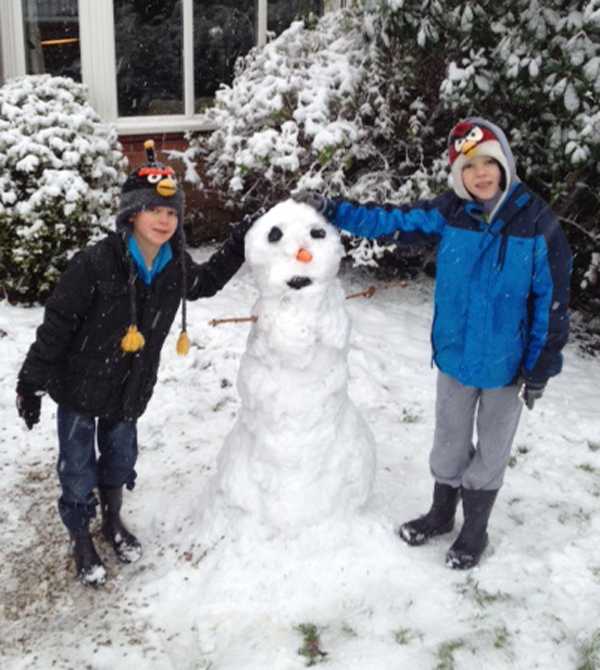 A snowman sent in by Paddy.