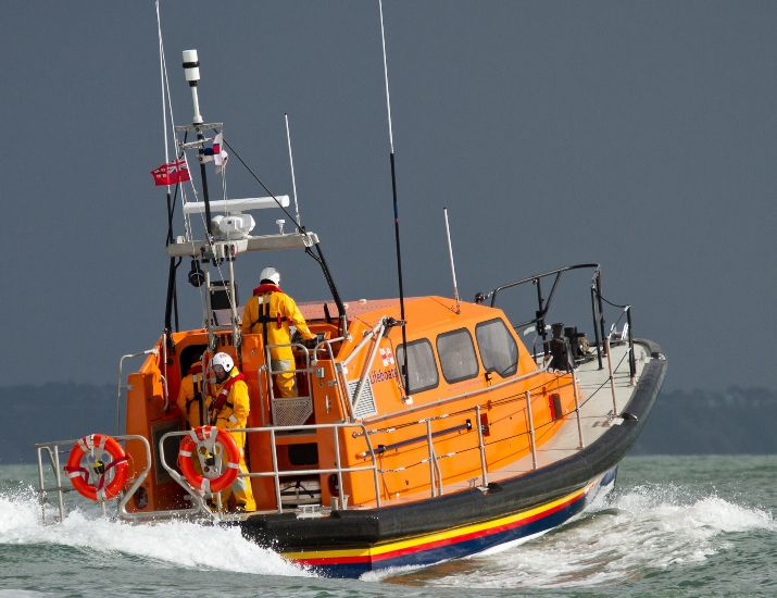 The RNLI were on the scene.