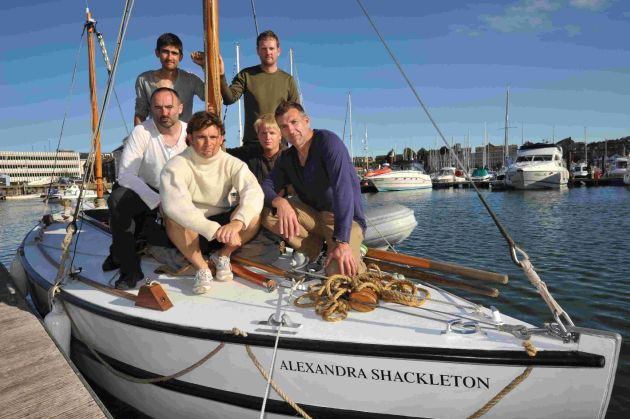 Nick Bubb, front left, with the team aiming to recreate the journey of Ernest Shackleton