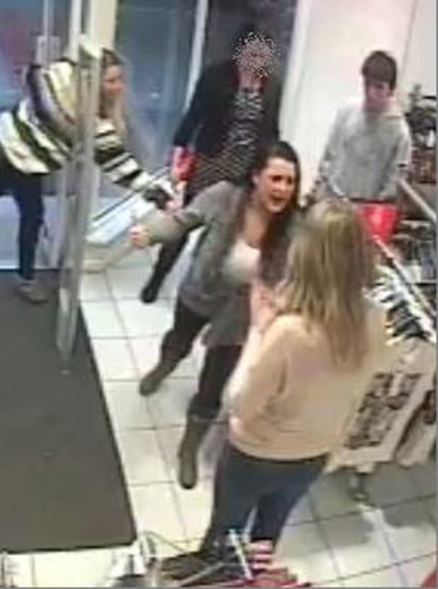 CCTV from the attack in New Look in Shirley