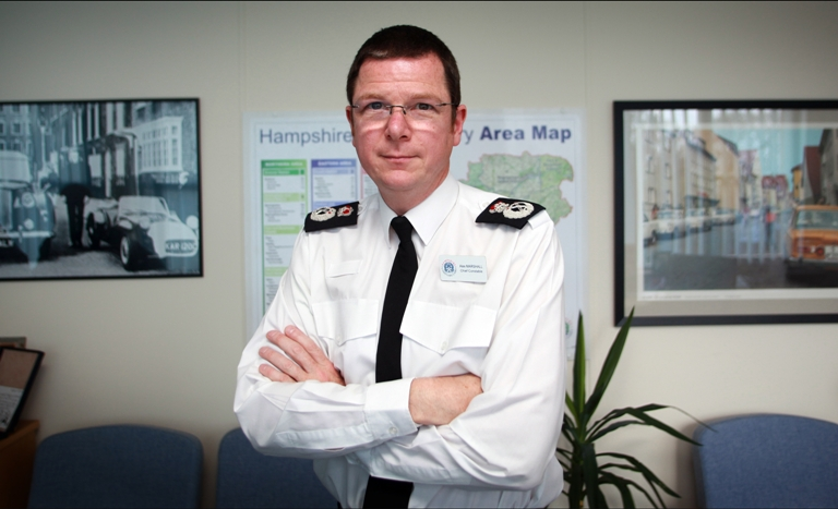Praise for poilce as crime is slashed across Hampshire