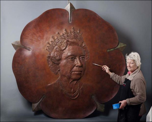 Prince Edward in Hampshire to unveil new bronze portrait of The Queen