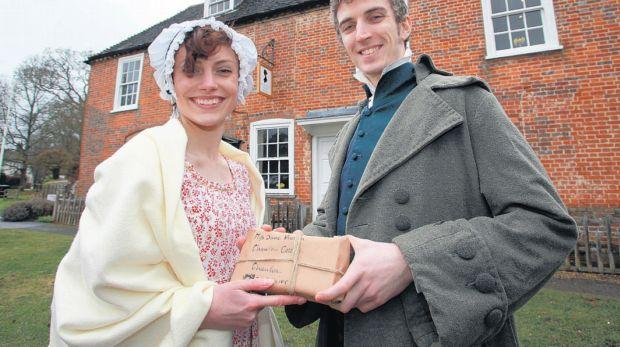 CELEBRATION: The Pride and Prejudice exhibition is launched at Chawton House.