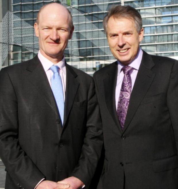 David Willetts with university Vice Chancellor Don Nutbeam