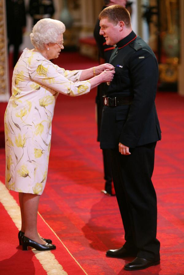Paul Jacob being honoured by the Queen