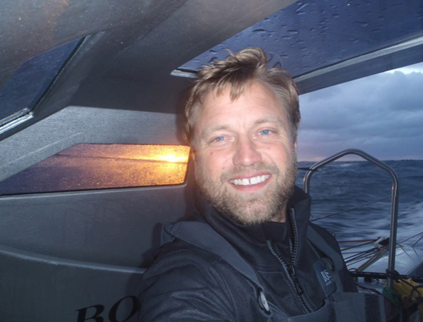 Alex Thomson smiling at the end of the Vendee Globe.  Copyright: Alex Thomson / Hugo Boss / Vendée Globe