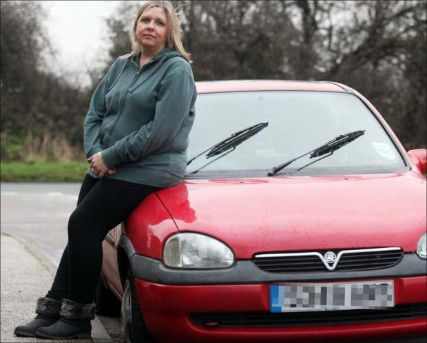 Daily Echo: Sharon Blackett's car was one of those damaged.