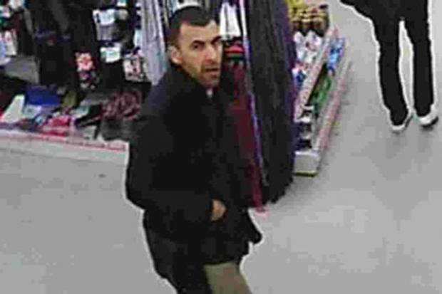 A photograph of the suspected pickpocket, released by Eastleigh police