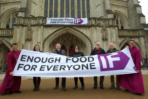 The launch of the Enough Food for Everyone IF campaign at Winchester Cathedral
