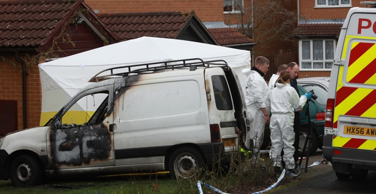 Desperate last message of man who died in blazing van
