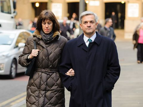 Carine Trimingham and Chris Huhne