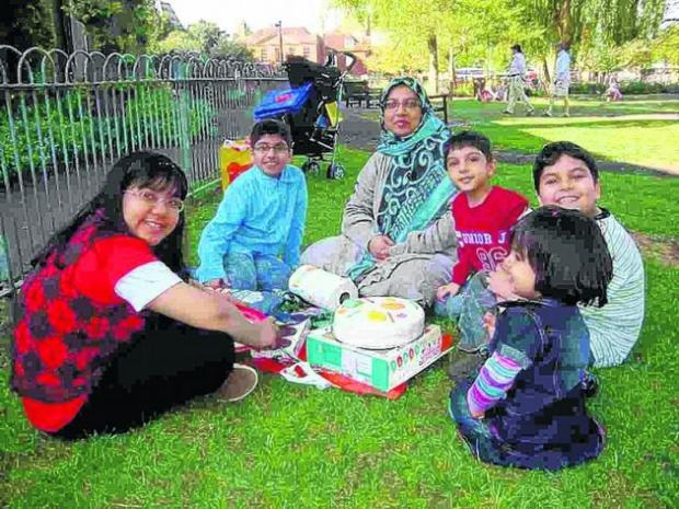 Dr Abdul Shakoor's wife and children, who died in the blaze