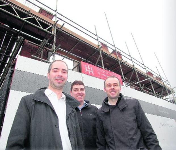Daily Echo: Jeremy Tyrrell, David Scott and Andrew Thompson from T2 architects
