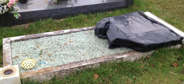 Headstones vandalised at cemetery