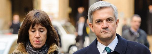 Carina Trimmingham and Chris Huhne