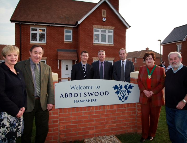 Launch of Abbotswood housing development last year