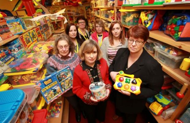 Toy Library Manager Pam McCune and her team at the threatened service in Northam.