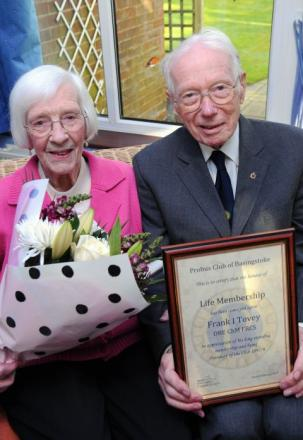 Dr Frank Tovey and his wife Winnie are leaving Basingstoke