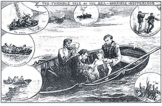 "regina v dudley and stephen case of the shipwrenched sailor ""that, on july 5,1884, the prisoners, thomas dudley and edward stephens, with  one  the case ordered to be argued before a court consisting of five judges   the case of the seven english sailors referred to by the commentator on grotius."
