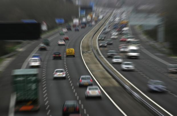 High-speed motorway terror drive - the WRONG way