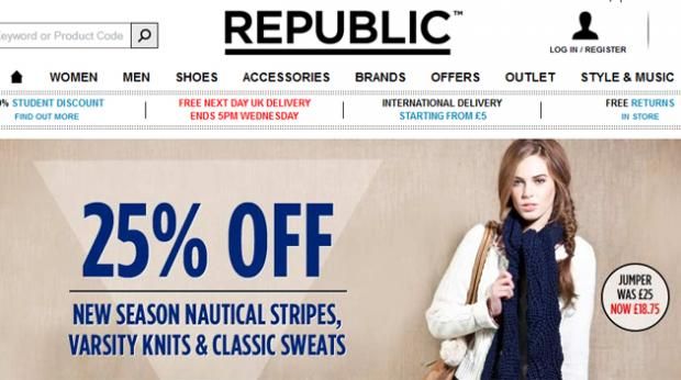 The Republic website today