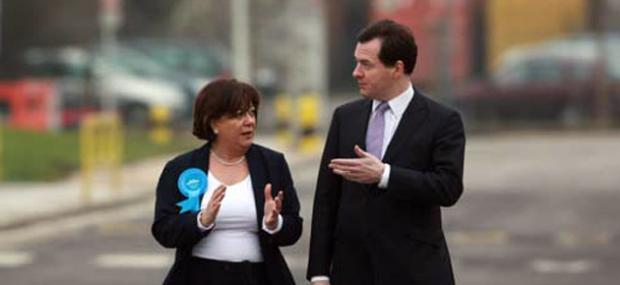 Maria Hutchings and George Osborne