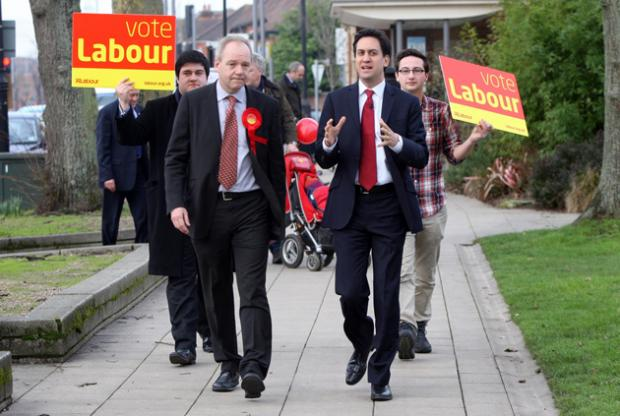 Milliband on campaign trail in Eastleigh