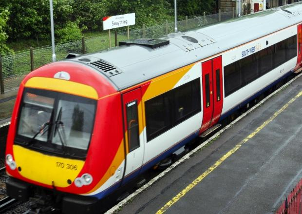 Daily Echo: A person has died after being hit by a South West Trains service in Hampshire
