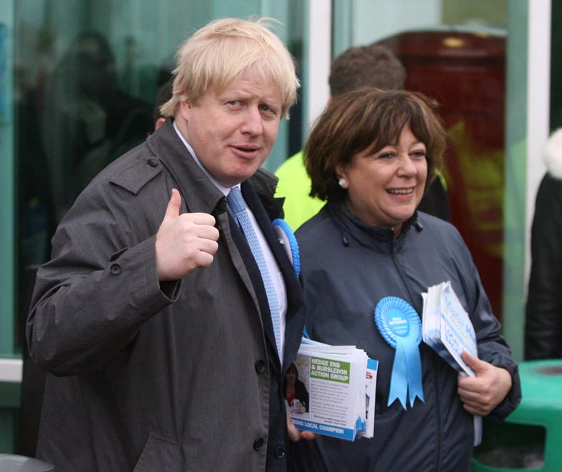 Boris declares Eastleigh a two-horse race