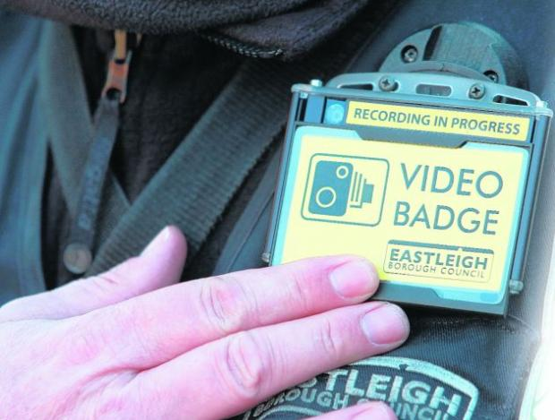 Traffic wardens with the CCTV badge