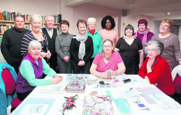 Daily Echo: Craft club members and staff at Age Concern in Eastleigh.
