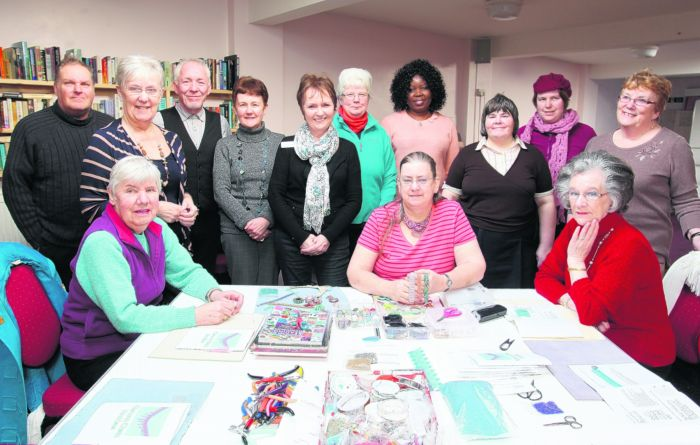 Craft club members and staff at Age Concern in Eastleigh.