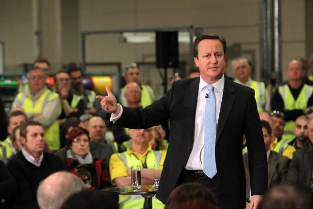 Daily Echo: Cameron grilled by workers in Eastleigh