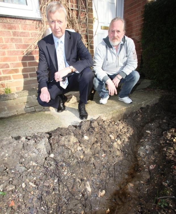 Mystery leak causes swamp in housing estate