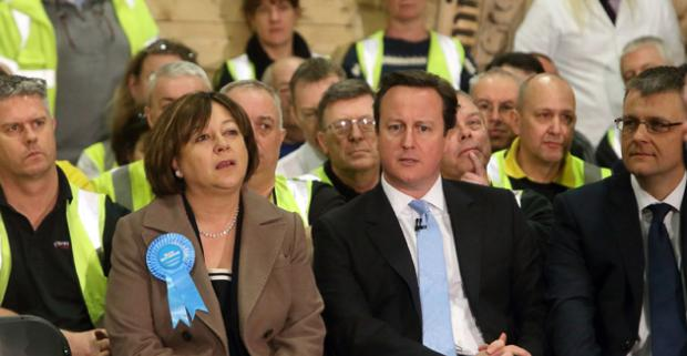 Maria Hutchings and David Cameron yesterday