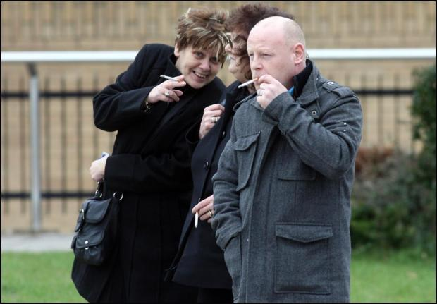 Kim Chapman, Susan Christians and Benjamin Chapman outside Southampton Crown Court.