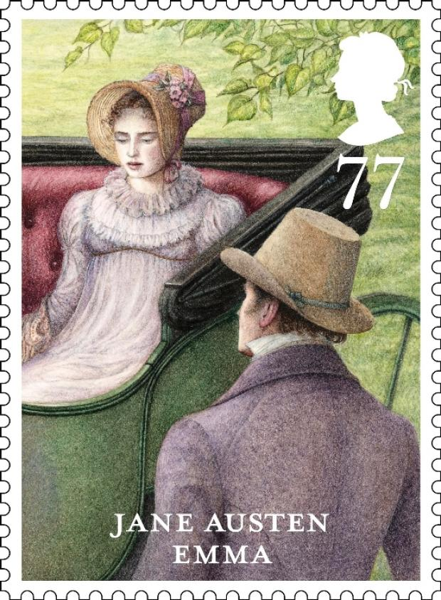 Jane Austen stamps issued