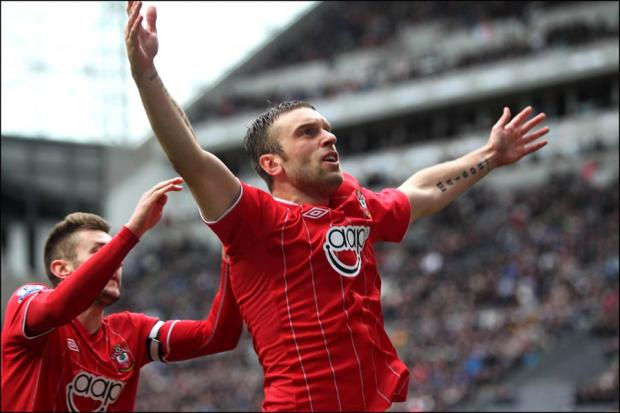 Rickie Lambert's 100th Saints goal couldn't prevent defeat.