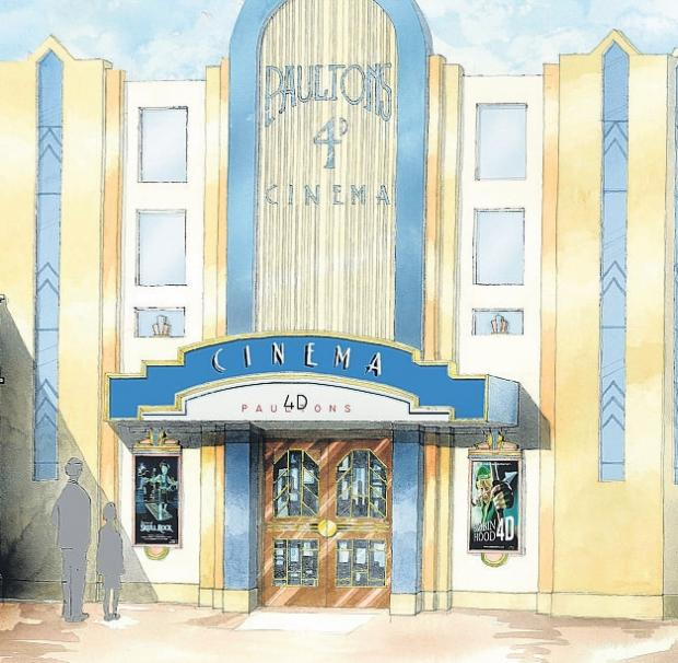 MOVIE EXPERIENCE: An artist's impression of the new 4D cinema planned for Paultons Park.