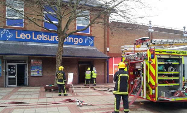 Shoppers evacuated in fireball drama