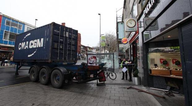Man in court after lorry ram raid at Parkhouse jewellers