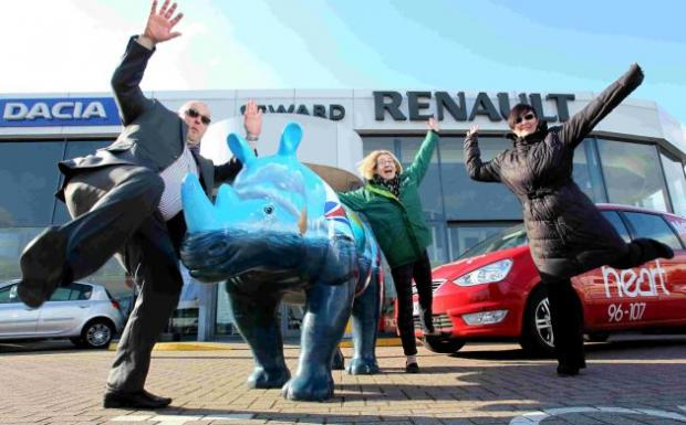 Seward Group's Shaun Perry, Marwell's Kirstie Mathieson and Global Radio's Karyn Head