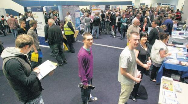 Job-seekers flock to a previous Daily Echo Jobs Fair.
