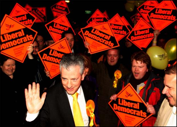 Victorious Liberal Democrat Mike Thornton