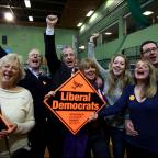 Daily Echo: Liberal Democrat Mike Thornton celebrates with his family.